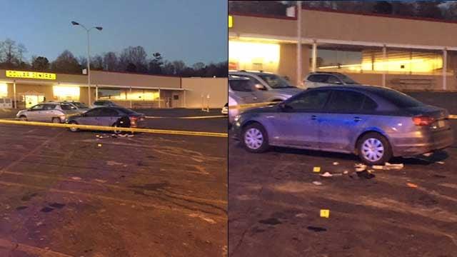 Scene at Patton Ave. (FOX Carolina/Jan. 19, 2018).