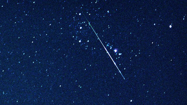 A Perseid meteor streaks across the sky in California. (File/AP)