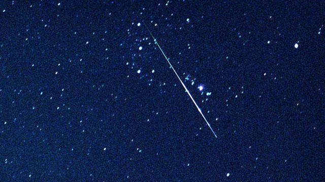 A Perseid meteor streaks across the sky in California. (File/AP)