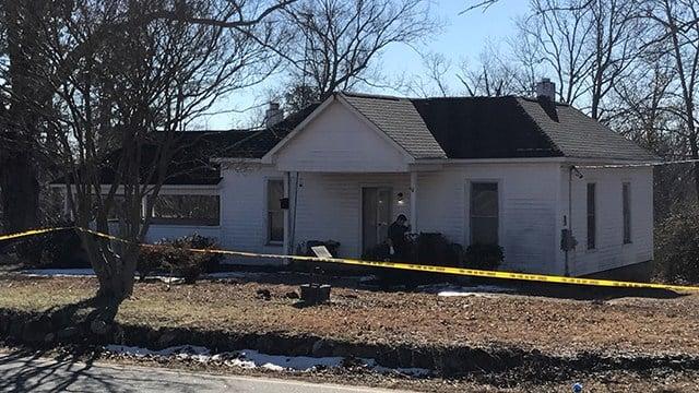 Scene of death investigation on Landrum Mills Road. (1/20/18 FOX Carolina)