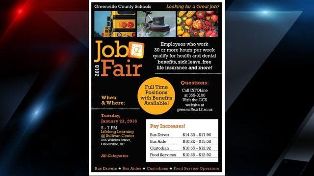 Greenville County Schools job fair flyer (Source: Greenville Co. Schools)