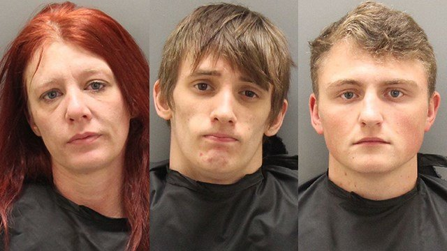 Left to right: Brandy Whitt, Joseph Cobb and Cameron Gibson (Source: OCSO)