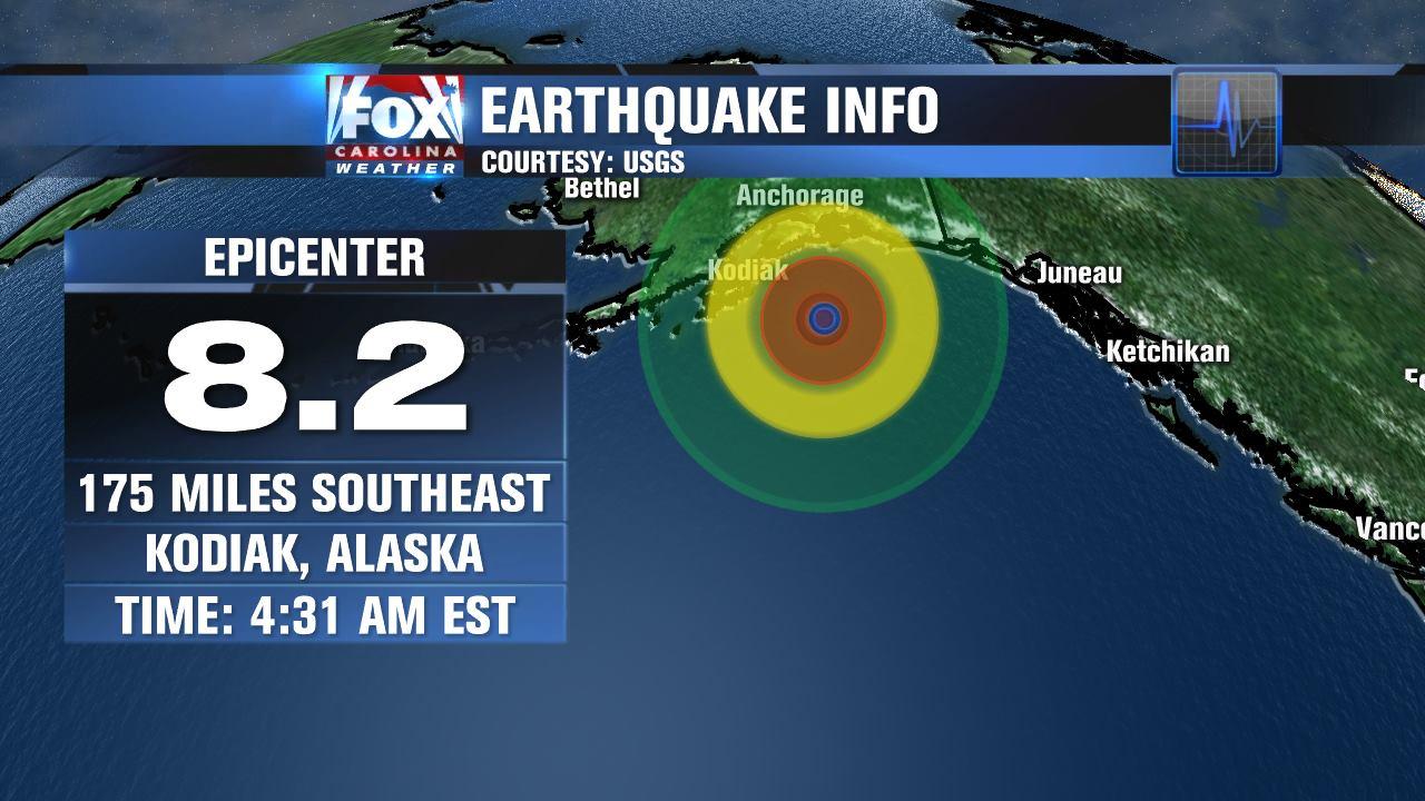 8.2 earthquake in Alaska (FOX Carolina)