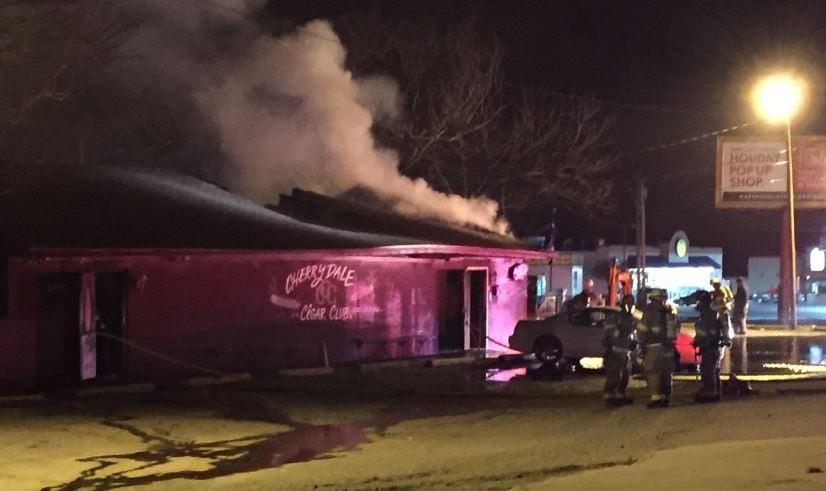 Cherrydale Cigar Club building fire (FOX Carolina/ Jan. 26, 2018)