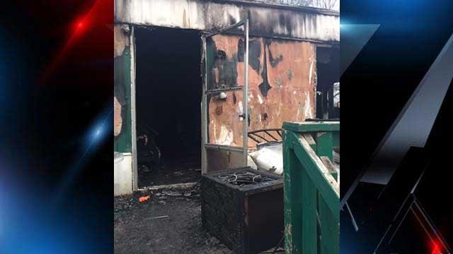 "The fire chief said the home was a ""total loss."" (FOX Carolina/Jan. 27, 2018)."