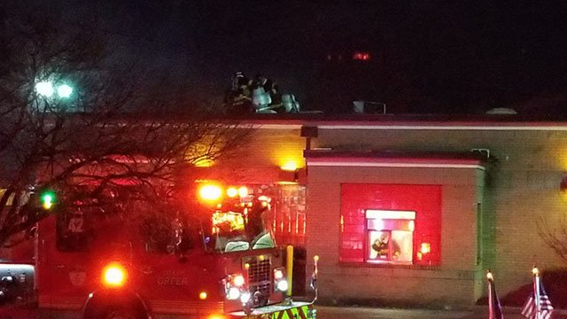 Crews respond to fire at Wendy's on Wade Hampton Blvd (Source: iWitness)