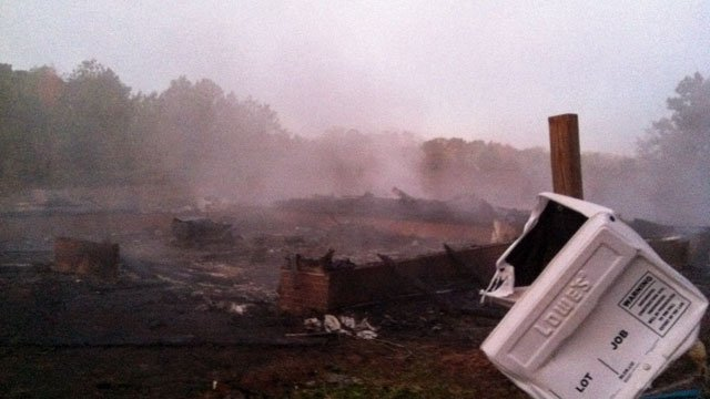 Fire destroys home under construction in Fountain Inn. (Nov. 1, 2011/FOX Carolina)