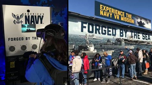 US Navy VR experience (Source: US Navy)