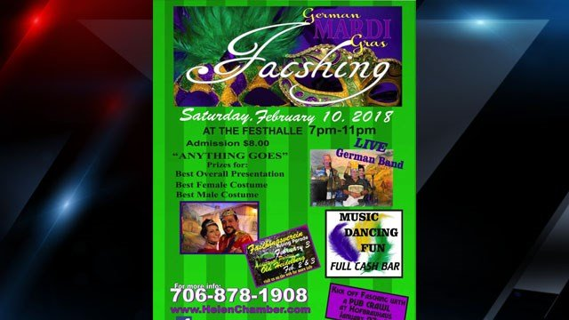 Fasching celebration flyer (Source: Helen, GA)