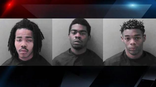 From left: Gibbs, Taylor, Fair (Courtesy: Easley PD)