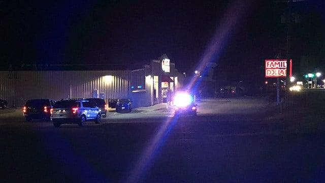 Scene of car into Family Dollar in Spartanburg Co. (1/29/18/FOX Carolina)