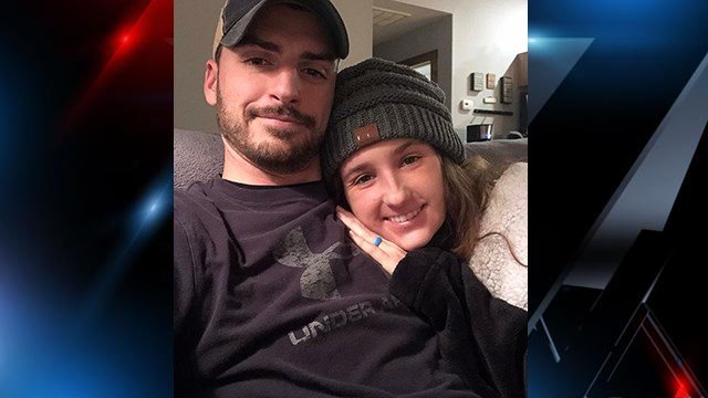 Kayla and Michael Durham after Kayla is released from ICU. (Source: Family).