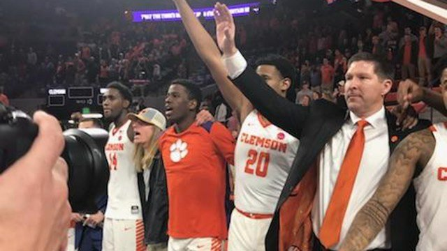Clemson with win of UNC. (1/30/18 FOX Carolina)