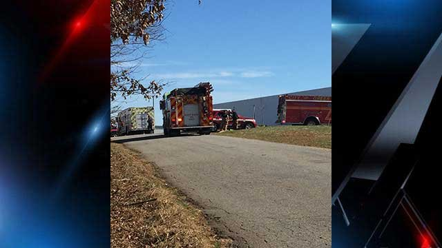 Crews are responding to a gas leak at Plastic Omnium in Greer. (FOX Carolina/Jan. 31, 2018).