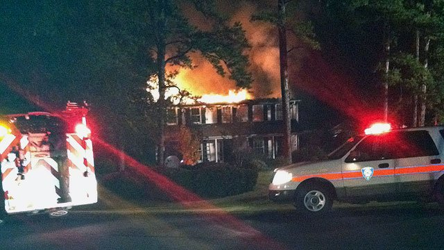 House on fire on Bateswood Dr. in Greer. (Nov. 4, 2011/FOX Carolina)