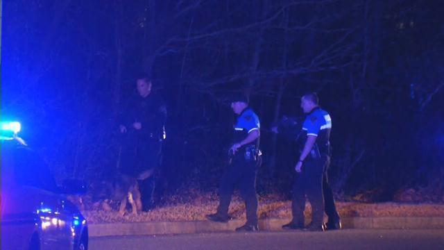 Scene of manhunt (Feb. 1, 2018/FOX Carolina)