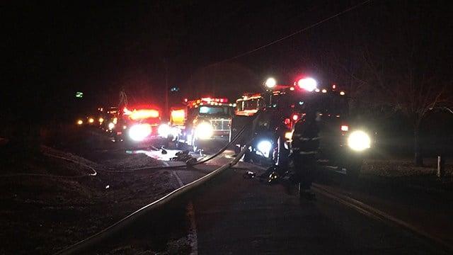 Fire crews respond to house fire on Chestnut Ridge Road. (2/3/18 FOX Carolina)