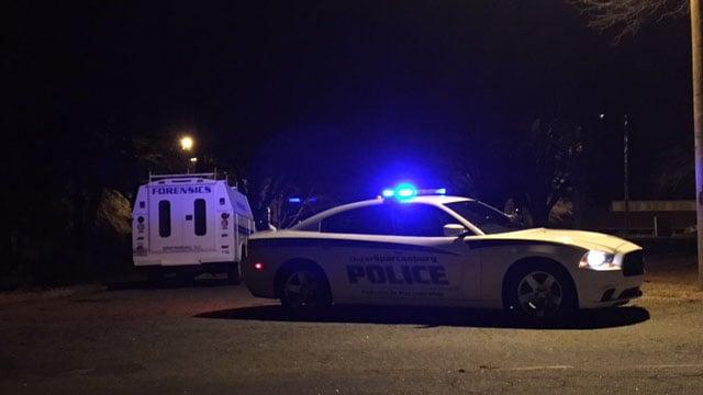 Scene of shooting on Kensington Drive (FOX Carolina/2/3/18)
