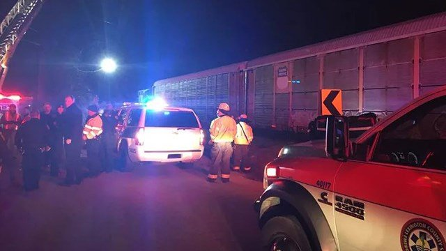 Scene of fatal train derailment in Cayce, SC. (Source: County of Lexington)