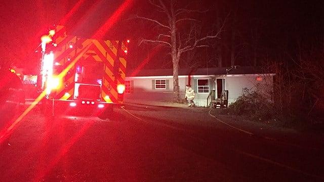 Mobile home fire on Glassy Road. (2/4/18 FOX Carolina)
