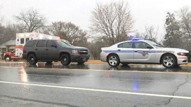 Scene of fatal collision on Cross Anchor Road. (2/4/18 FOX Carolina)
