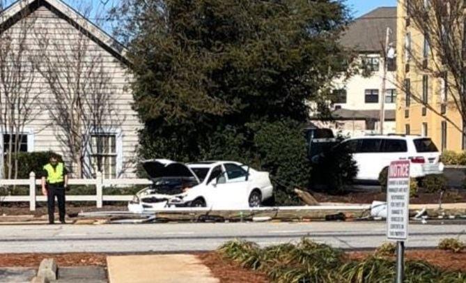 Scene of the crash (Source: Melissa Cothran)