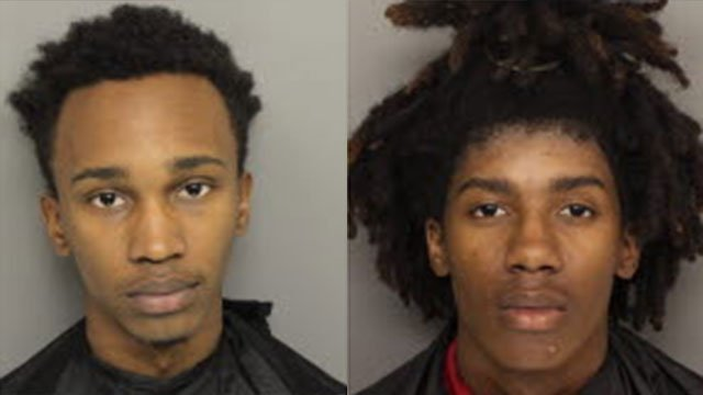 Damoni Barker (L) and Daniel Dennie (Source: Greenville Co. Detention)