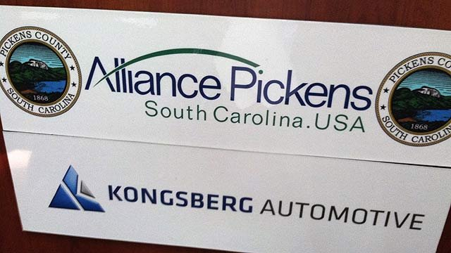 Kongsberg Automotive announces new jobs, investment in Pickens County. (Nov. 8, 2011/FOX Carolina)