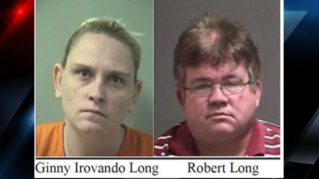 Booking photos of the Longs (Source: Okaloosa County Sheriff's Office)