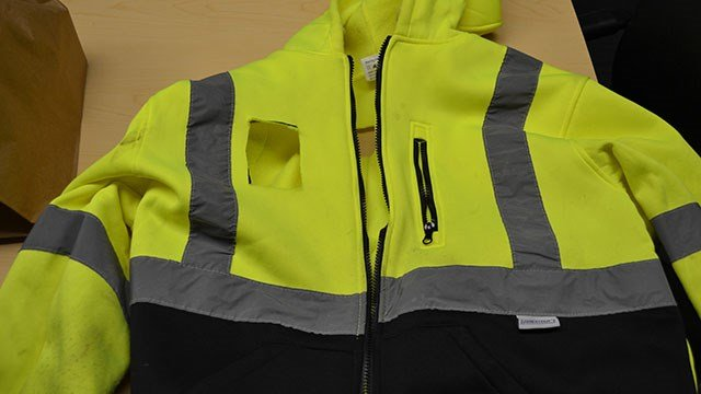Jacket believed to have been worn by suspect in armed robbery at Transylvania Co. store (Source: TCSO)