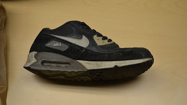 Sneaker believed to have been worn by suspect in armed robbery at Transylvania Co. store (Source: TCSO)