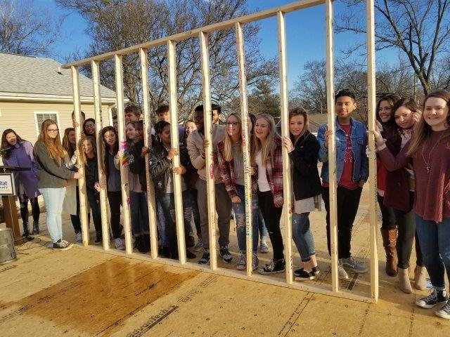 Students raised money to cover the cost of the home (FOX Carolina)