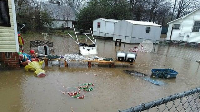 Flooding on McGee Street (Source: Leigh Ann Stewart)