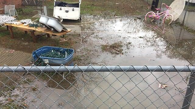 Flooding on McGee Street (Feb. 7, 2018/FOX Carolina)