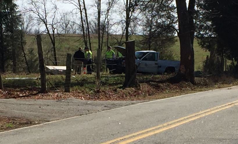 Scene of the crash on Ora Road (FOX Carolina/ Feb. 8, 2018)