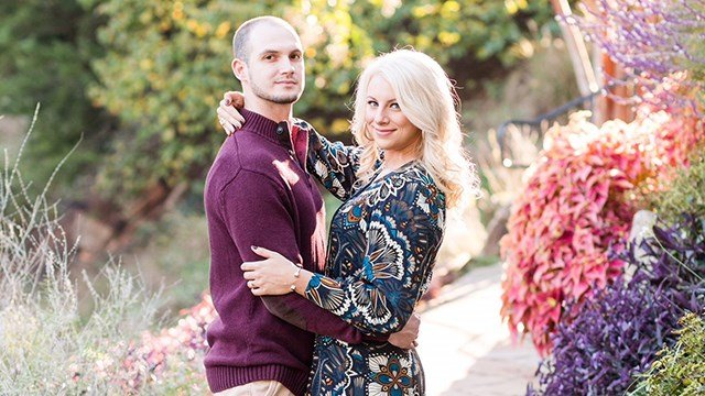 Talon Gambrell with his fiancee (Source: Family)