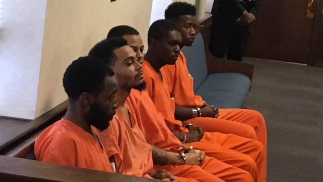The suspects appear in bond court. (FOX Carolina/Feb. 8 ,2018).