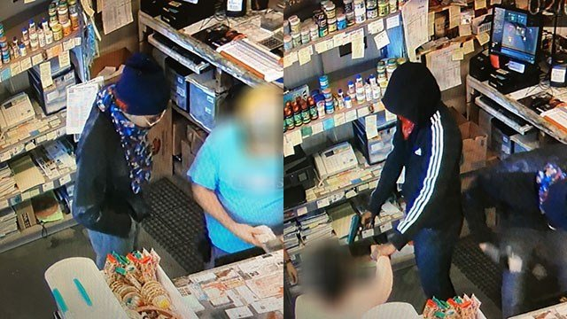 Surveillance photos from robbery at El Charrito Tienda. (Source: Henderson County Sheriff's Office)