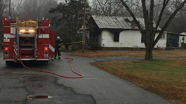 Crews responding to house fire in Belton. (FOX Carolina/Feb. 10, 2018).