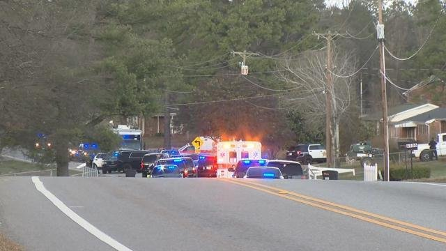Scene on Valley Falls Road (Feb. 16, 2018/FOX Carolina)