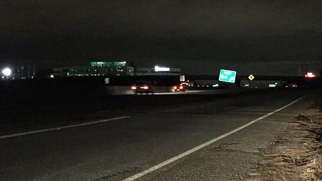 Scene of fatal collision on I-85 near MM 54. (2/17/18 FOX Carolina)
