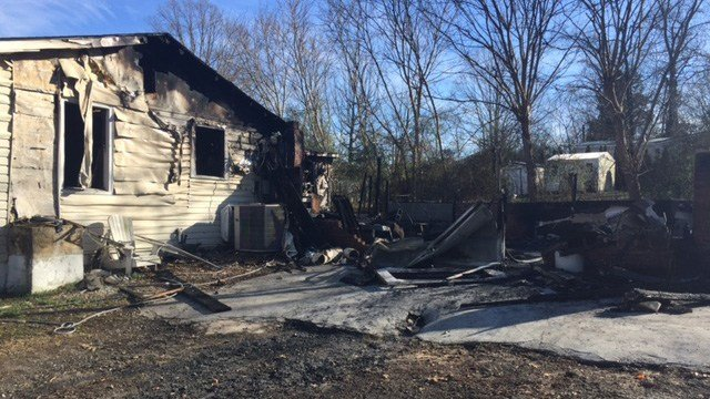 House on Ridan Rd deemed total loss after fire. (2/18/18 FOX Carolina)