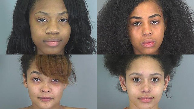 Top left to bottom right: Ritasia Carson, Kaliana Johnson, Kiernan Kershaw and Alexis Warden (Source: SCSO)