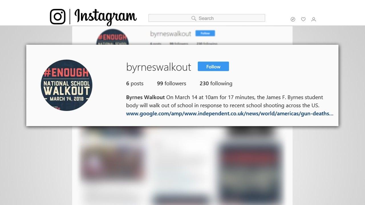 """Byrnes Walkout"" Instagram post. (Source: Instagram)"