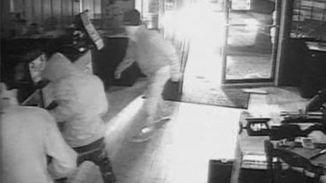 "Surveillance footage of ""smash and grab"". (Source: HCSO)"