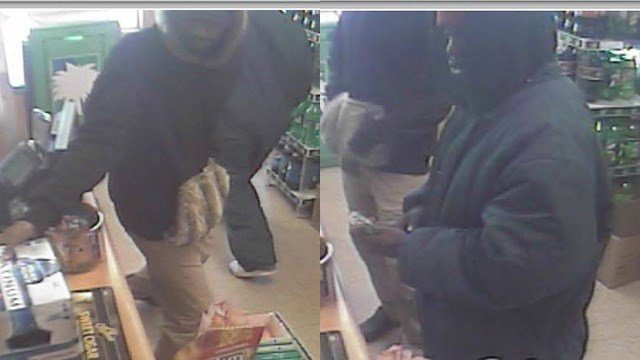 Surveillance footage from armed robbery at Andy's Party Shop (Source: SCSO)