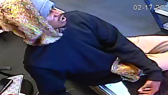 Surveillance footage from robbery.