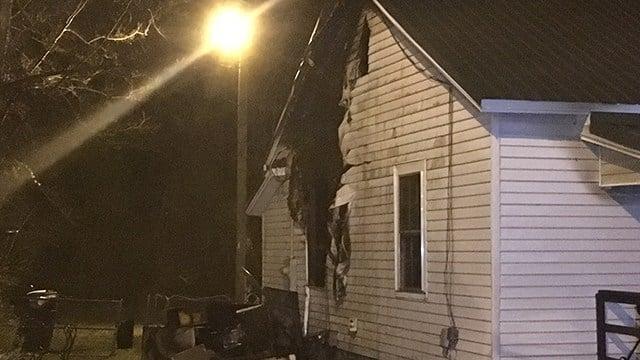 Fire on Shirley Street (Feb. 20, 2018/FOX Carolina)