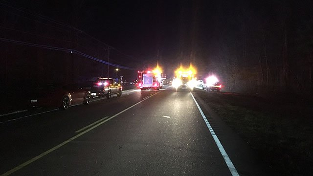 Scene of fatal crash in Cherokee Co. (FOX Carolina/ 2/22/18)