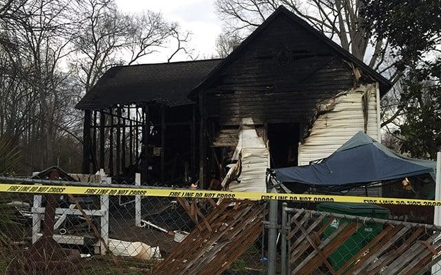 Home destroyed in Williamston fire (Feb. 23, 2018/FOX Carolina)